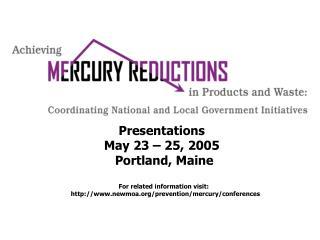 Presentations                 May 23 – 25, 2005