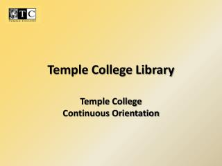 Temple College Library