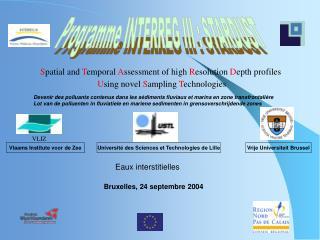Programme INTERREG III : STARDUST