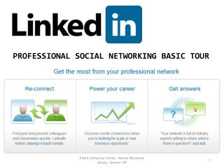 PROFESSIONAL SOCIAL NETWORKING BASIC TOUR
