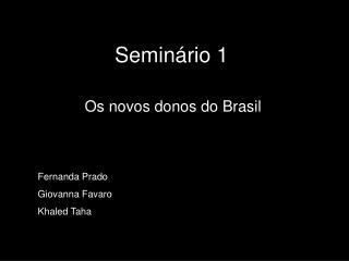 Seminário 1