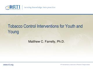 Tobacco Control Interventions for Youth and Young