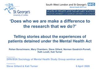 Does who we are make a difference to the research that we do   Telling stories about the experiences of patients detain