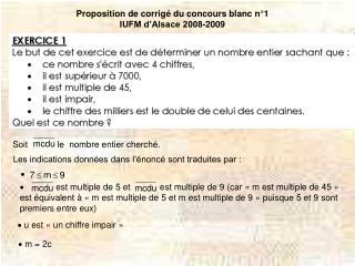 Proposition de corrigé du concours blanc n°1 IUFM d'Alsace 2008-2009