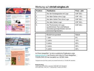 Werbung auf  christl-singles.ch