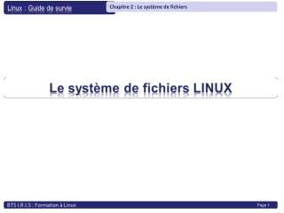 Qu'est-ce qu'un système de fichier ? Organisation physique des données sur un support