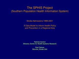 The SH 1999-2001 Stroke Cohort: Flow Chart