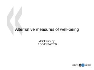 Alternative measures of well-being