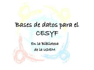 Bases de datos para el CESYF