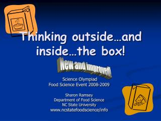 Thinking outside and inside the box