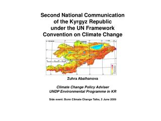 Second National Communication  of the Kyrgyz Republic  under the UN Framework
