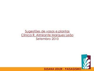 Sugestões  de  vasos  e plantas Clínica  R. Almirante Marques  Leão Setembro  2010
