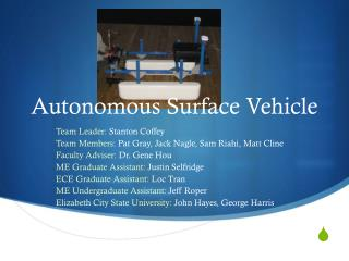 Autonomous Surface Vehicle