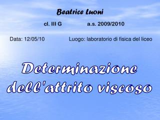 Beatrice Luoni