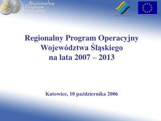Narodowe Strategiczne Ramy Odniesienia  Programy Operacyjne 2007-2013