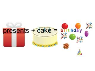 presents + cake =