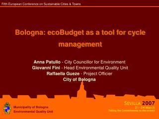 Bologna: ecoBudget as a tool for cycle management