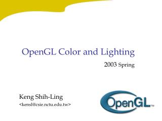 OpenGL Color and Lighting