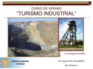 """CURSO DE VERANO """"TURISMO INDUSTRIAL"""""""