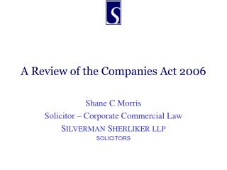 A Review of the Companies Act 2006