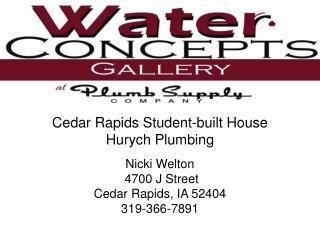 Cedar Rapids Student-built House Hurych Plumbing