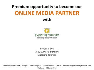 Mission Connecting Tourists with Tourism  Vision Building International Tourism Network