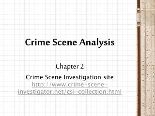 Crime Scene Analysis