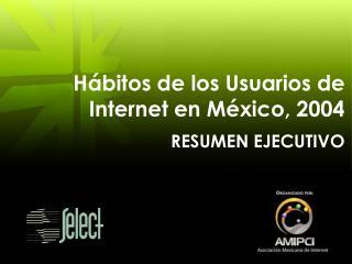 Hábitos de los Usuarios de  Internet en México, 2004