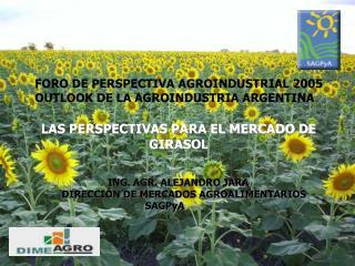 FORO DE PERSPECTIVA AGROINDUSTRIAL 2005     OUTLOOK DE LA AGROINDUSTRIA ARGENTINA