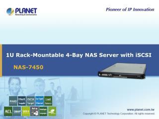 1U Rack-Mountable 4-Bay NAS Server with iSCSI