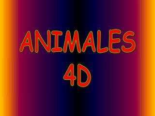 ANIMALES 4D