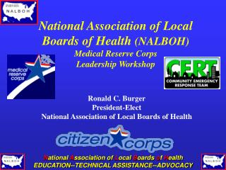 National Association of Local Boards of Health  (NALBOH) Medical Reserve Corps Leadership Workshop