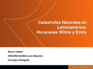 Catástrofes Naturales en Latinoamérica: Huracanes Wilma y Emily