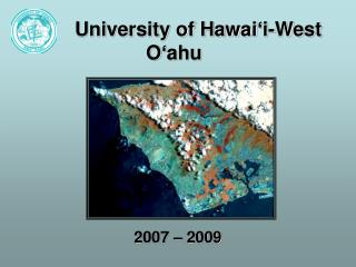 University of Hawai ' i-West O'ahu