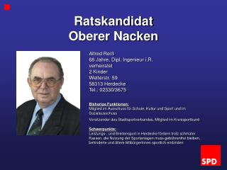 Ratskandidat  Oberer Nacken