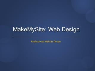 MakeMySite : Web Design