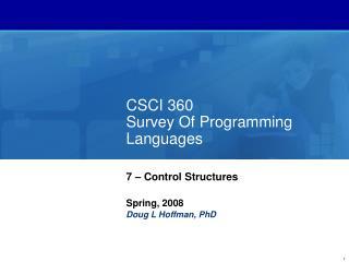 CSCI 360