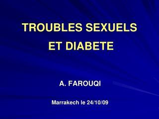 TROUBLES SEXUELS   ET DIABETE