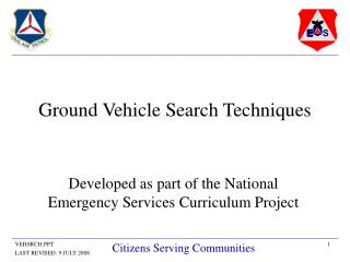 Ground Vehicle Search Techniques