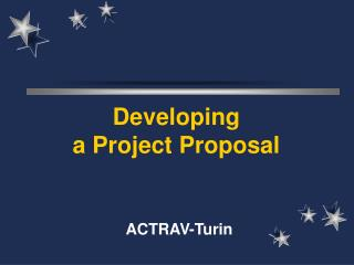 Developing a Project Proposal