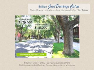 Edificio J osé D omingo  C añas Matta Oriente , entrada por José Domingo Cañas 722,   Ñ uñoa