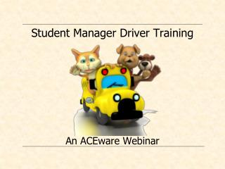 Student Manager Driver Training