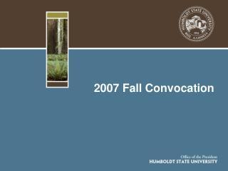 2007 Fall Convocation