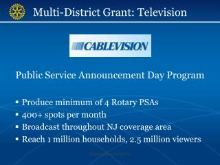 Multi-District Grant: Television