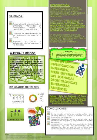 MATERIAL Y MÉTODO: - Estudio observacional descriptivo.