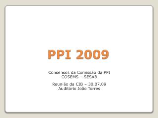 PPI 2009
