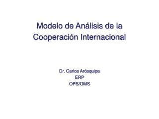 Modelo de Análisis de la Cooperación Internacional