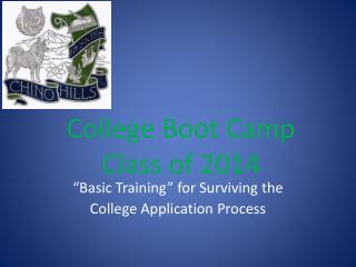 College Boot Camp Class of 2014