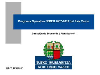 Programa Operativo FEDER 2007-2013 del País Vasco