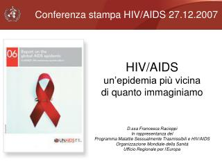 Conferenza stampa HIV/AIDS 27.12.2007